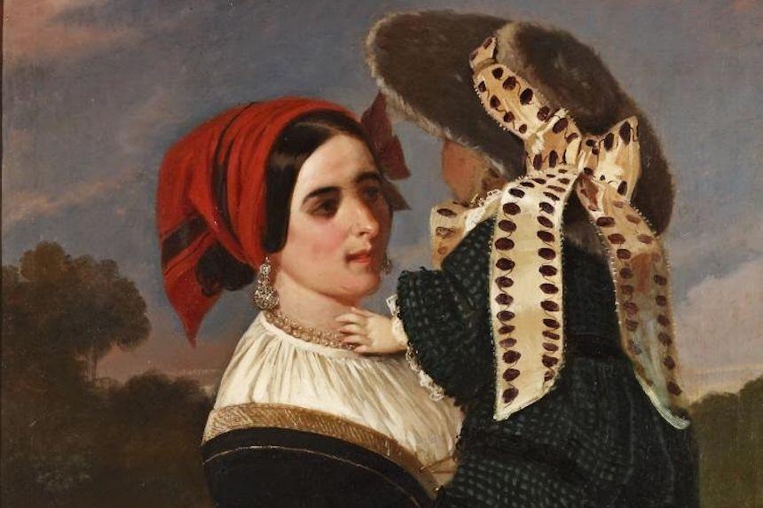 Nodriza pasiega, de Valeriano Domínguez Bécquer (Museo del Romanticismo de Madrid)