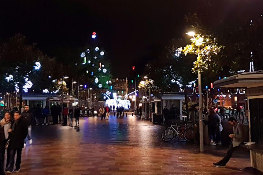 Allée Jean Jaurès en Toulouse de noche