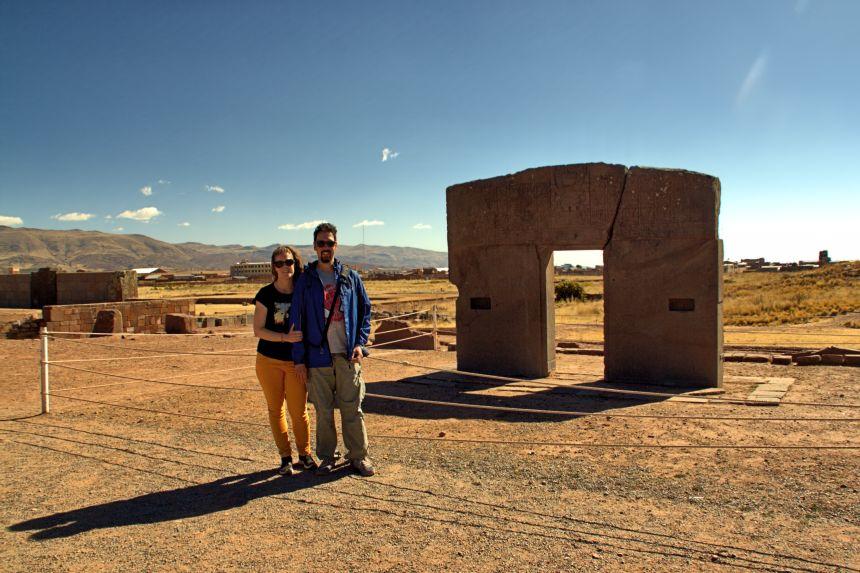 Puerta del Sol de Tiahuanaco en Bolivia