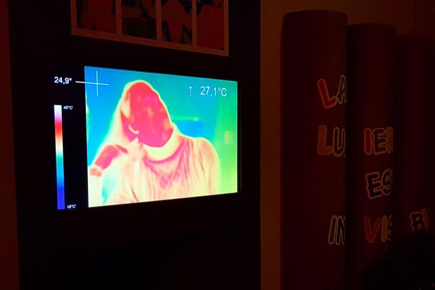 Imagen en infrarrojos en la Cité de l'espace