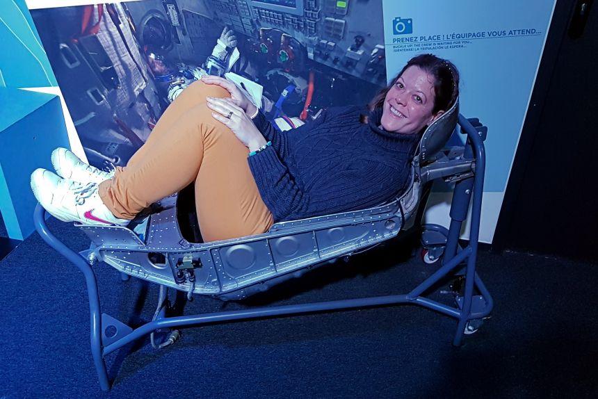Posición de despegue en una nave espacial