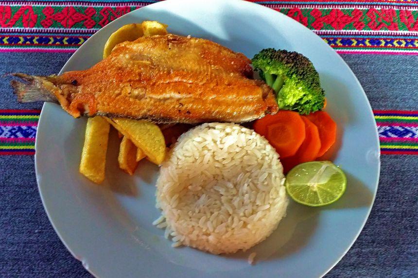 Comida peruana en Ollantaytambo