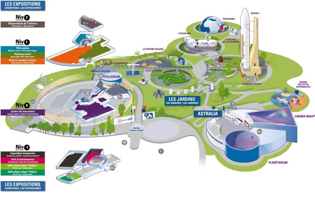 Mapa de la Cité de l'espace en Toulouse