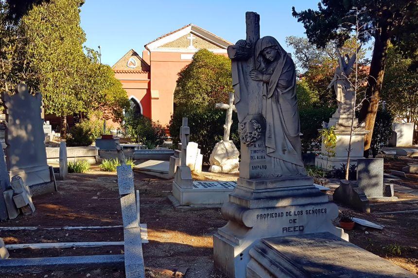 Mapa y mochila 2017 - el cementerio de los ingleses en Madrid