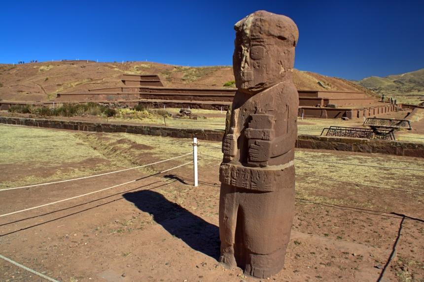 Monolito Fraile en Tiwanaku