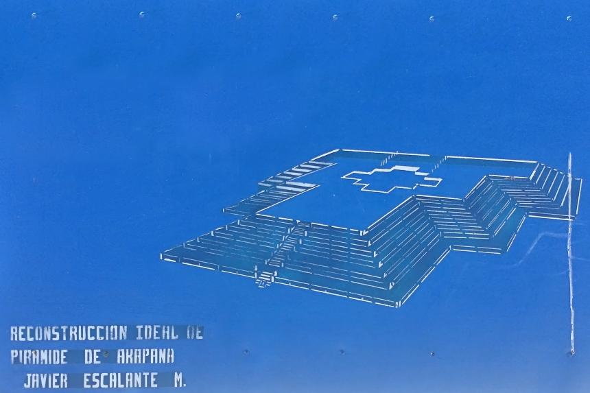 Reconstrucción ideal de la Pirámide de Akapana