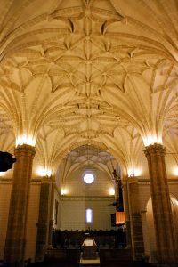 Bóvedas de crucería de la Colegiata de Bolea
