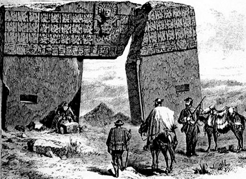 dibujo de la Puerta del Sol (1877)
