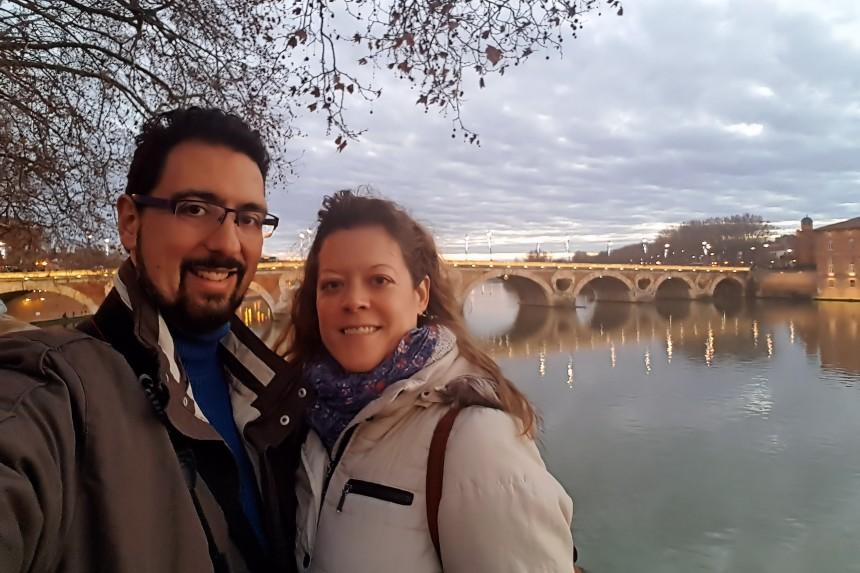 mapa y mochila en Toulouse