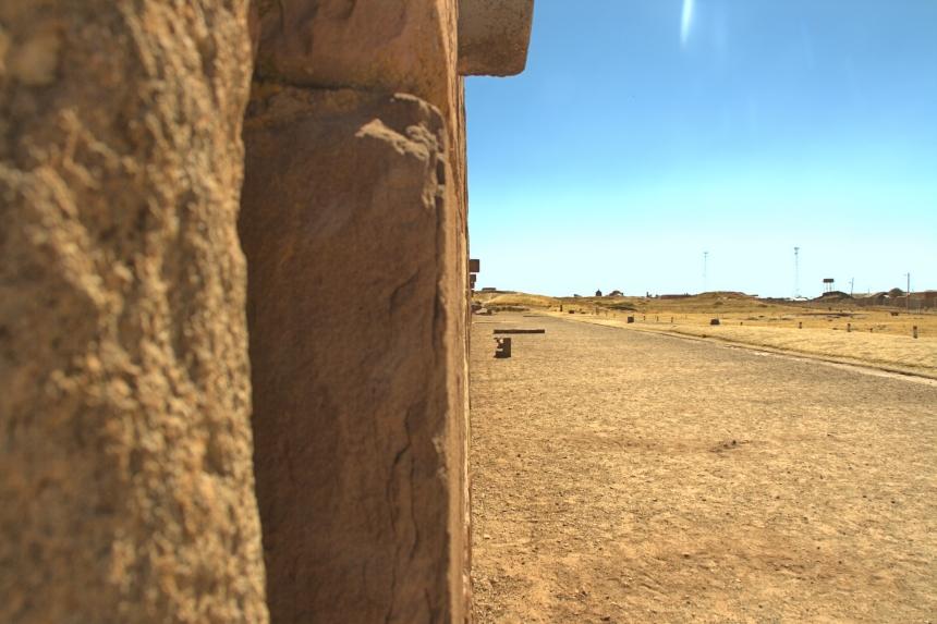 muro del Kalasasaya en Tiwanaku
