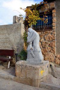 Obra escultórica homenaje a Diego Page en Bolea
