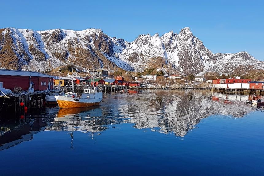 Ballstad en islas Lofoten