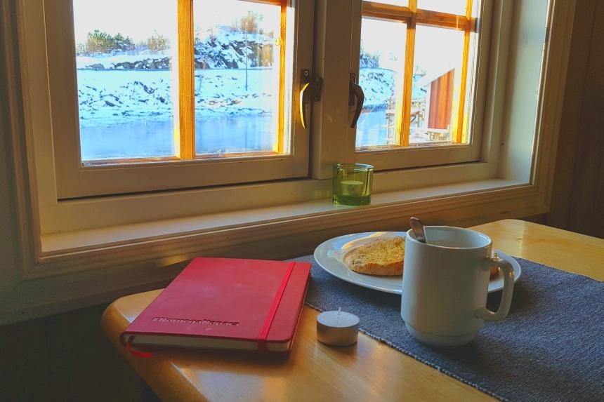 desayuno en rorbuer de Svolvaer