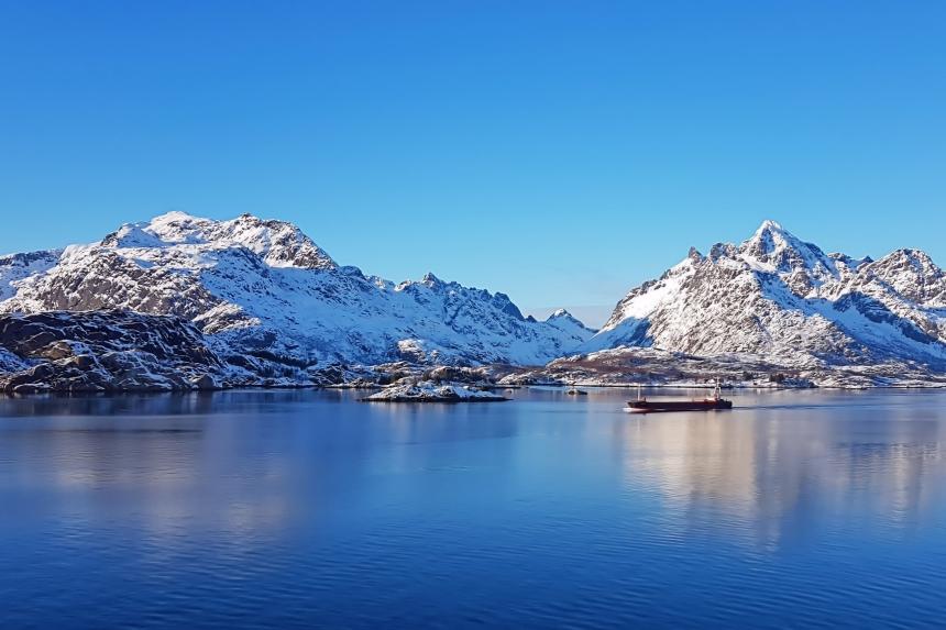 estrecho deRaftsundet en las islas Lofoten