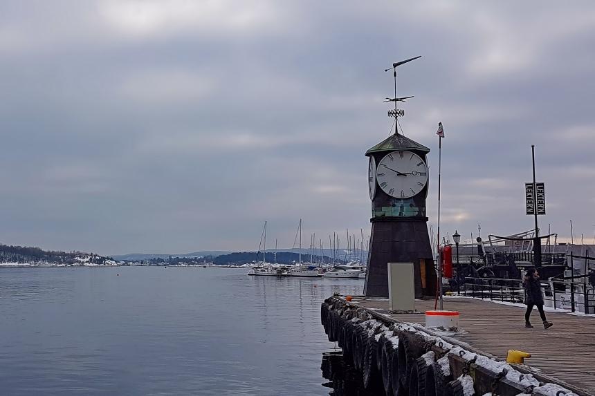 fiordo de Oslo en invierno
