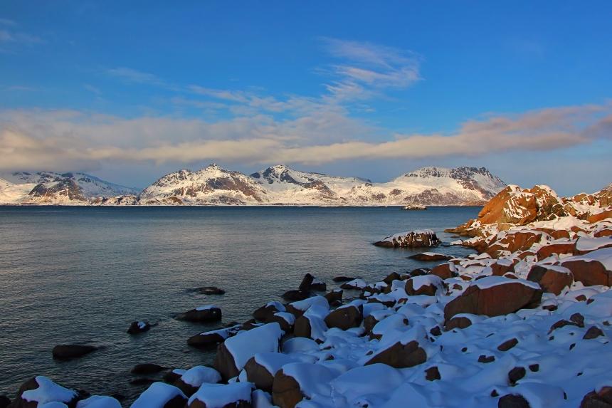 rumbo a Henningsvær en las islas Lofoten