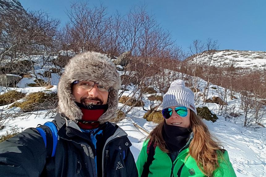 ruta a Kvalvika en las islas Lofoten