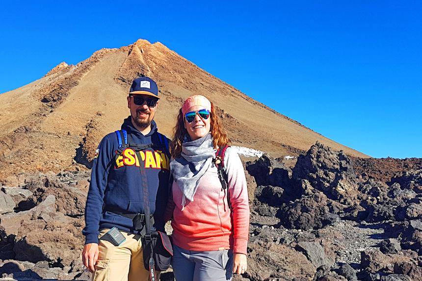 preparados para ascender al Pico del Teide