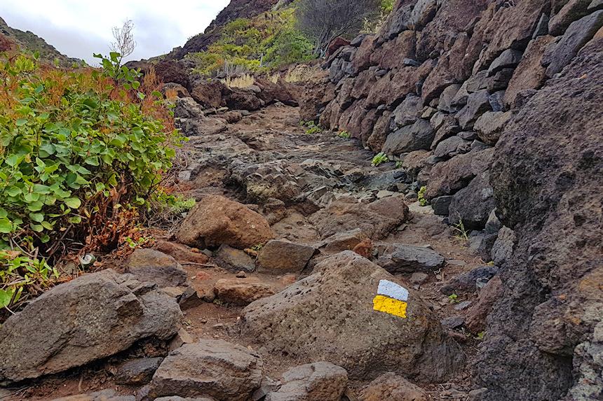 camino de lavas en el Parque Rural de Anaga