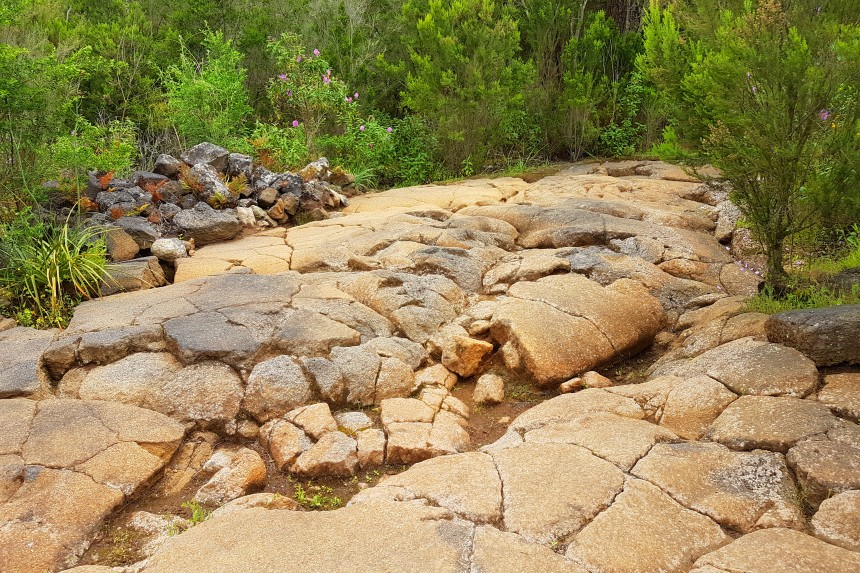 lavas pahoehoe llamadas lajas en Canarias