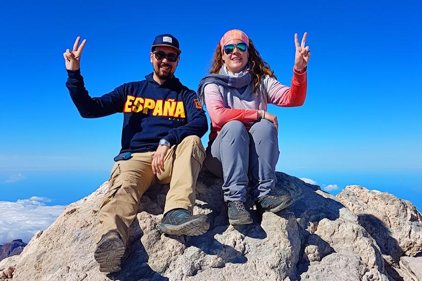 mapaymochila en el Pico del Teide