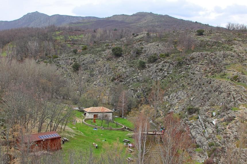 molino harinero y área recreativa de La Hiruela