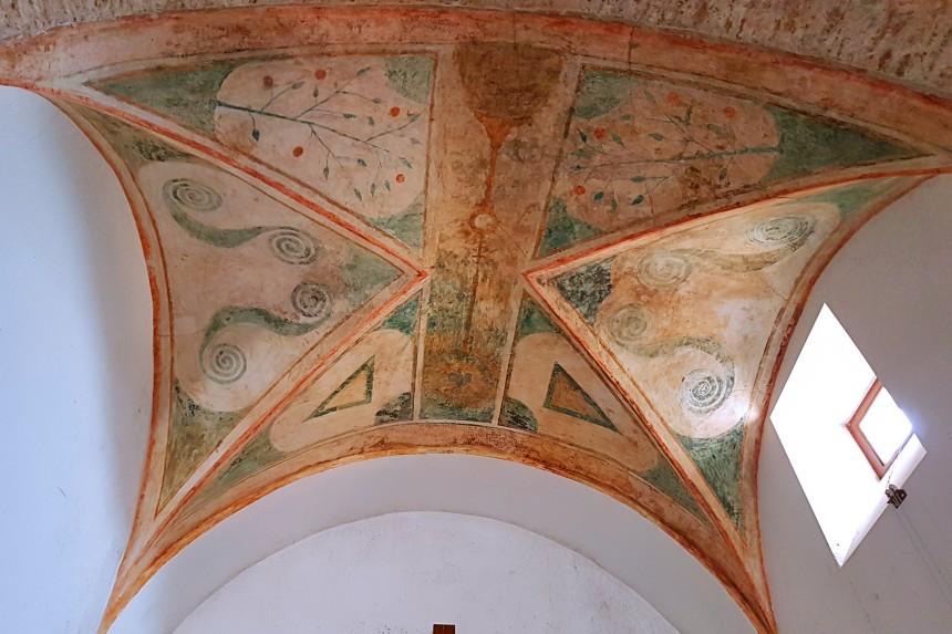 pinturas en la iglesia de La Hiruela