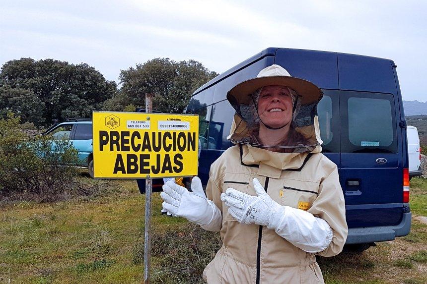 precaución abejas