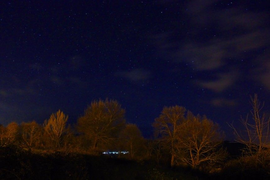 Sierra Norte de Madrid de noche