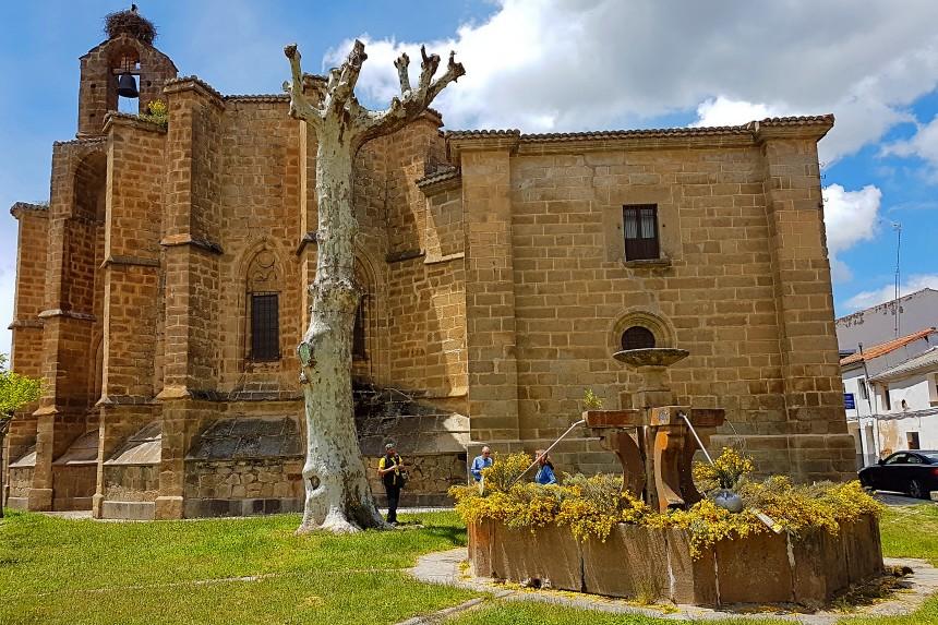 Barco de Ávila en primavera con Piornos en flor