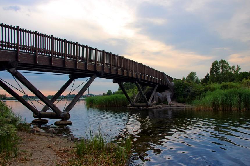 gigantes olvidados de Copenhague - Oscar bajo el puente