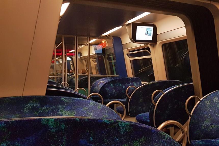 vagón del S-Tog de Copenhague