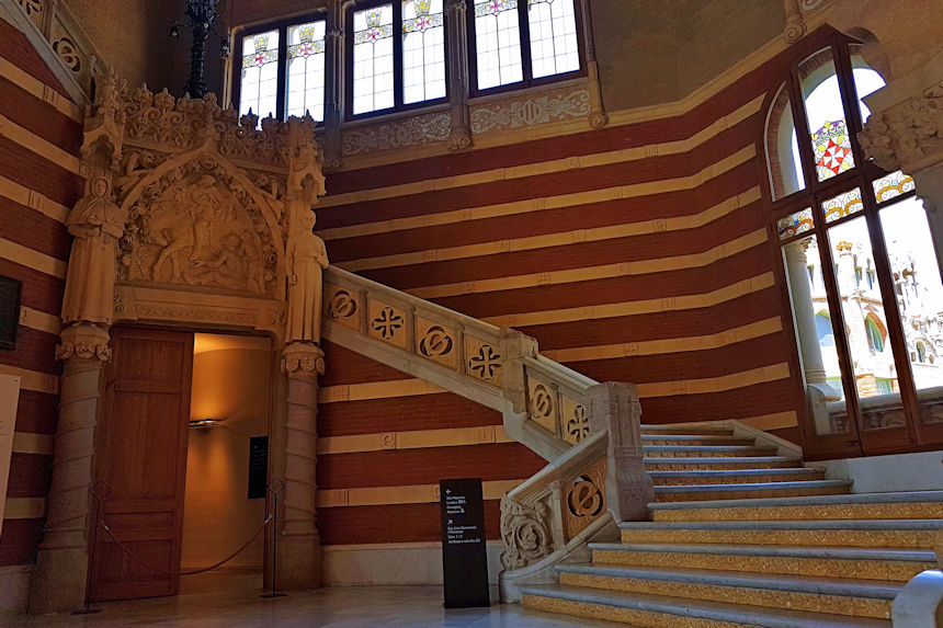 Escalinata del Pabellón de Administración
