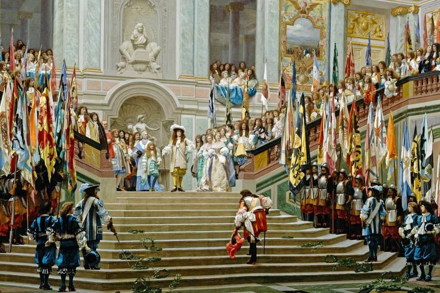 Recepción de Luis de Borbón en el Palacio de Versalles