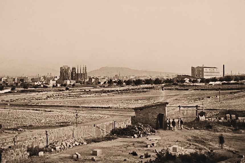 Terrenos dónde se edificó el Hospital de la Santa Creu i Sant Pau