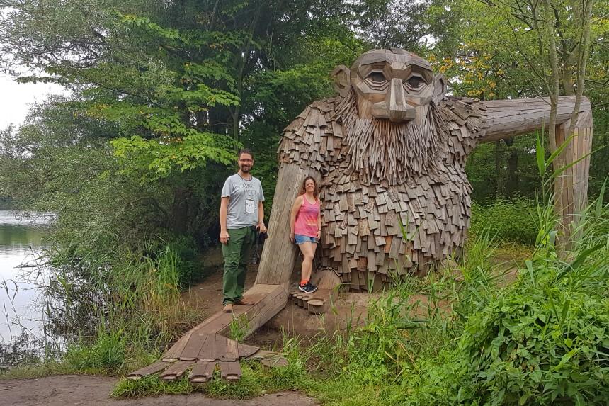 los gigantes de Copenhague y mapaymochila