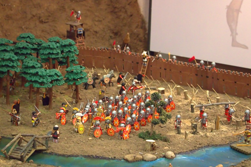 diorama de playmobil sobre Numancia
