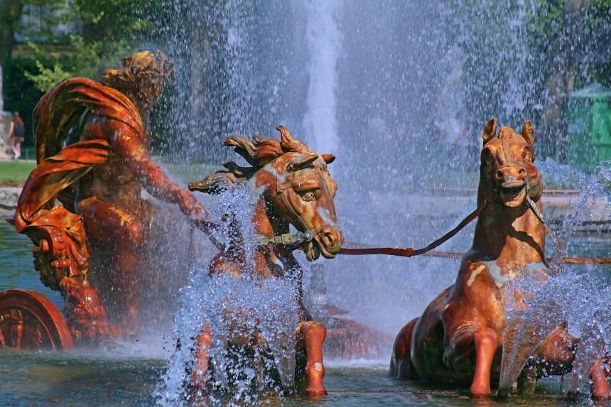 Detalle de la Fuente de Apolo en los Jardines de Versalles