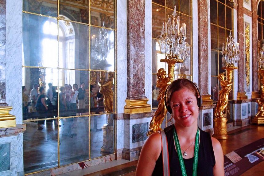 galería de los espejos en el Palacio de Versalles