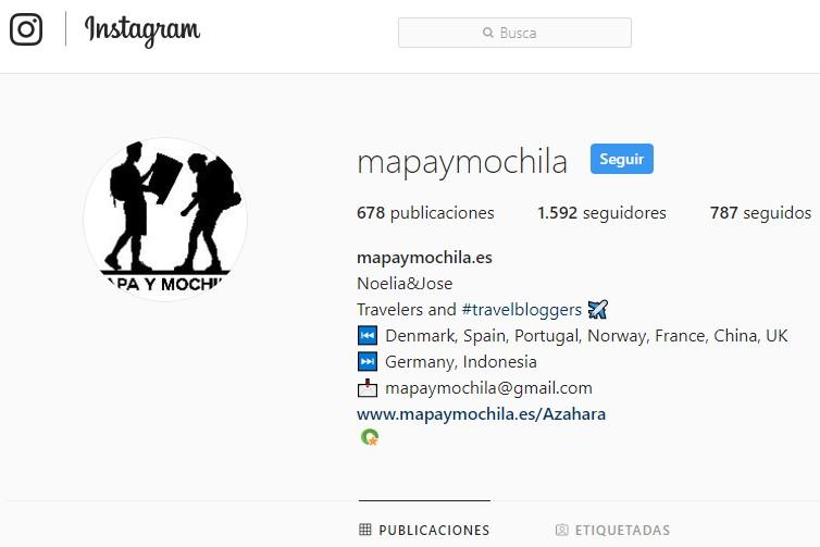 instagram de mapaymochila