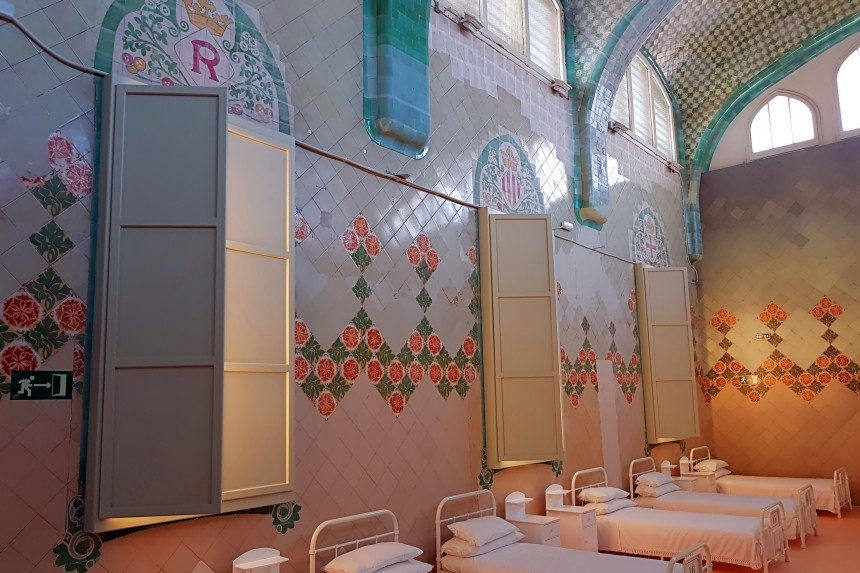 interior del Pabellón de Sant Rafael