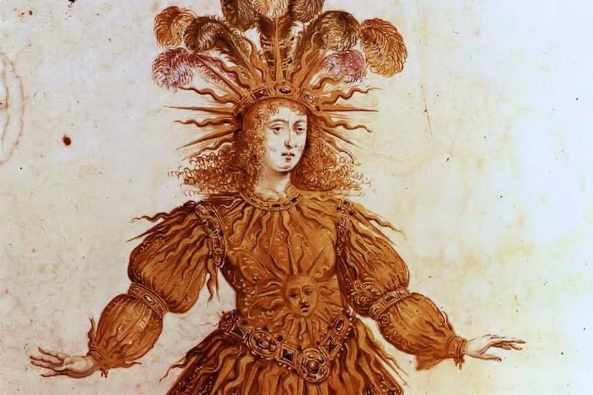 Luis XIV como el rey sol