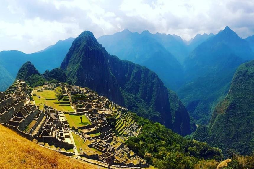 Machu Picchu con mapaymochila