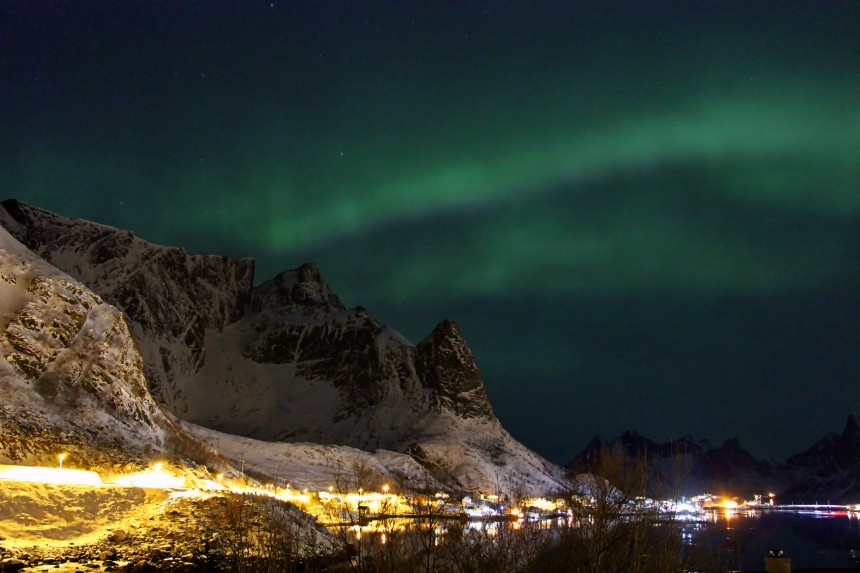 aurora boreal en Reine