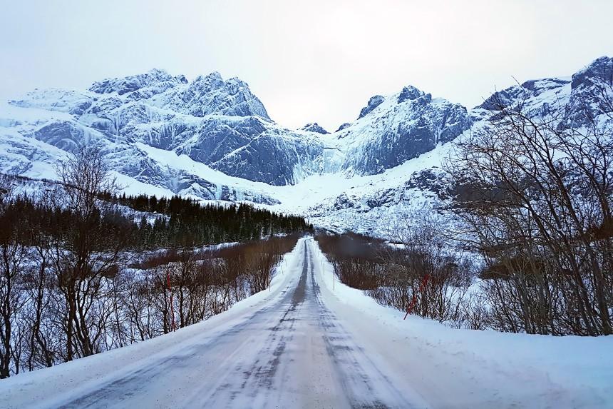 carretera de Noruega Ártica