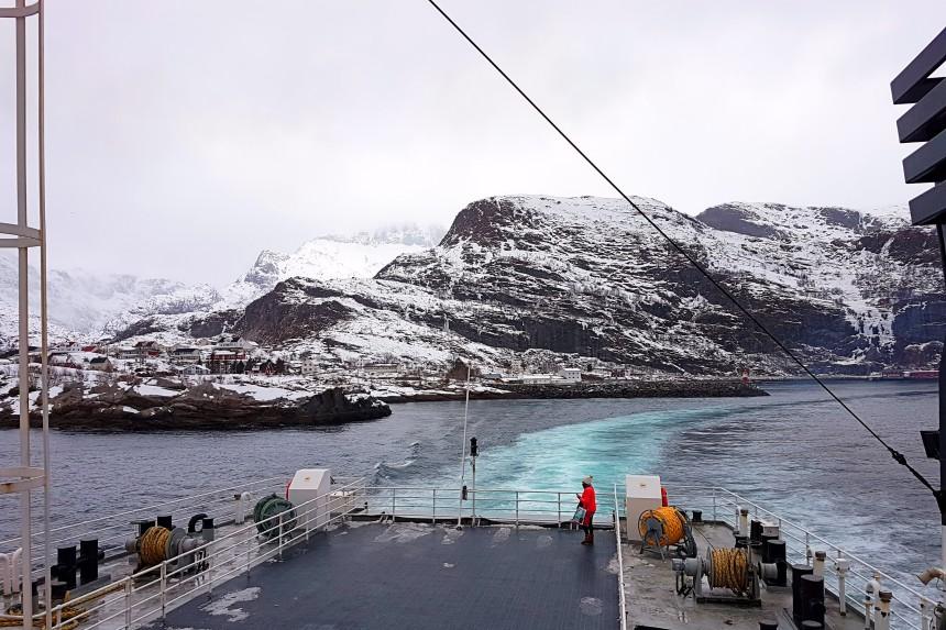 ferry de Moskenes a Bodø