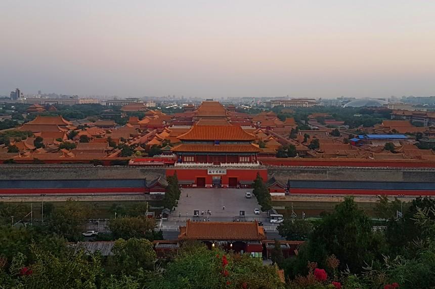 Ciudad Prohibida de Pekín desde la Colina del Carbón