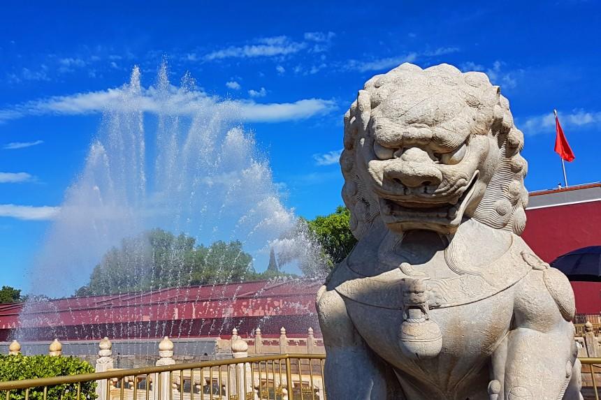 fuente de la Plaza Tiananmén