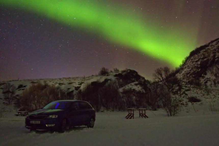 roadtrip buscando la aurora boreal