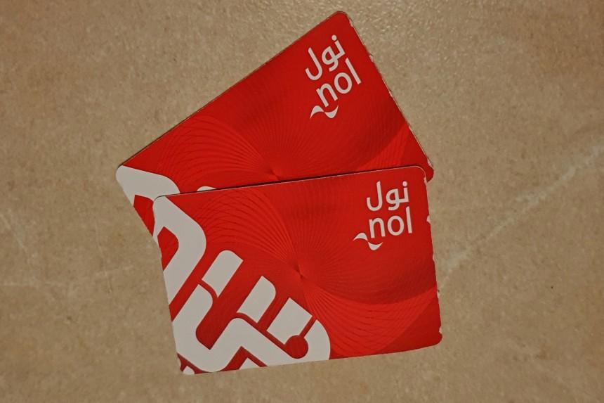 tarjeta de transporte NOL red card en Dubai